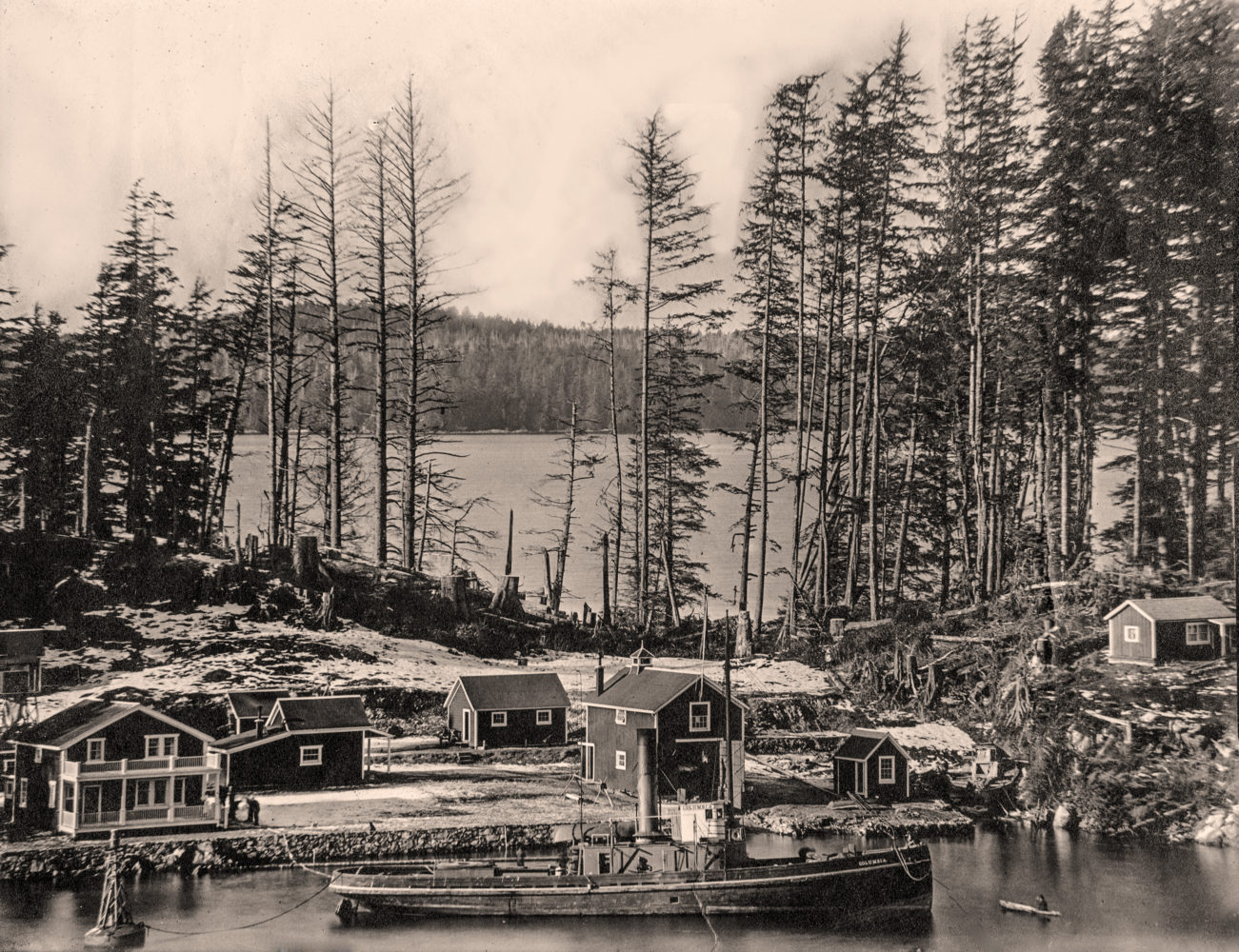 #19 - The Columbia at anchor in front of the Bamfield Lifeboat Station