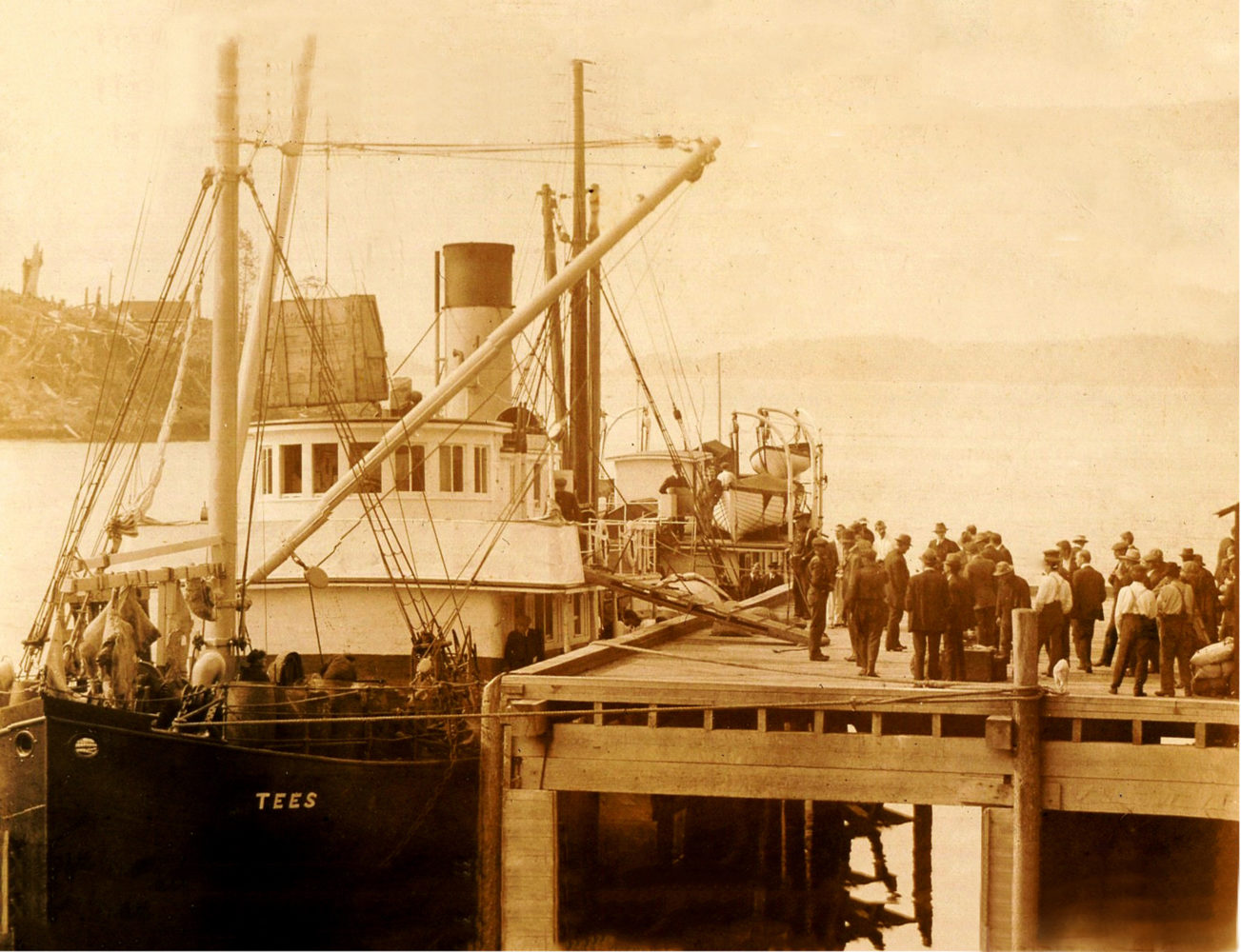 #22 - The Tees, Bamfield Cable Station, circa 1915